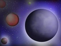 Planeten in kosmische ruimte stock illustratie