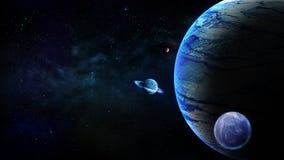 Planeten, Melkwegachtergrond, Astronomie, Kosmos en Nevel, Heelal, de achtergrond van de Fantasiekosmische ruimte royalty-vrije illustratie