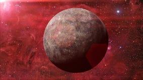 Planeten Mercury tände vid solen och Vintergatangalaxen Royaltyfria Bilder