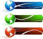 Planeten met Banners royalty-vrije illustratie