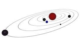 Planeten op baan Stock Foto's