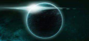 Planeten op een sterrige achtergrond royalty-vrije stock fotografie