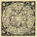 Planeten, oude kaart Stock Afbeeldingen