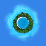 Planeten-Paradies Stockbild