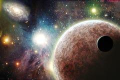 Planeten in ruimte Stock Afbeeldingen