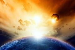 Planeten in ruimte Royalty-vrije Stock Afbeelding