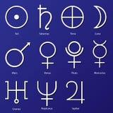 Planeten-Symbole Stockbilder