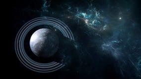 Planeten und Galaxie, Kosmos, körperliche Kosmologie lizenzfreie abbildung