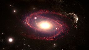 Planeten und Galaxie, Zukunftsromantapete Schönheit des Weltraums lizenzfreies stockbild
