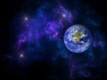 Planeten und Galaxie, Zukunftsromantapete Sch?nheit des Weltraums Milliarden der Galaxie im kosmischen Kunsthintergrund des Unive vektor abbildung
