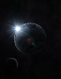Planeten- und Mondweinlese Lizenzfreie Stockbilder