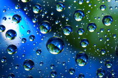 Planeten van de bellen van water Stock Afbeelding