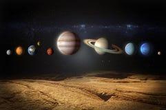 Planeten van de zonnestelselmening van rotsachtige planeet stock illustratie