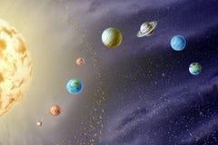 Planeten van het Zonnestelsel stock illustratie