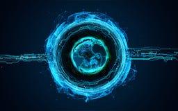 Planetenerde des Hologramms 3d Lizenzfreie Stockfotografie