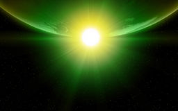 Planetenerde im Platz Lizenzfreie Stockbilder