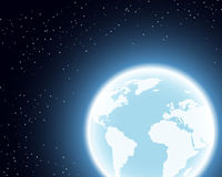 Planetenerde im Raum Stockfotografie