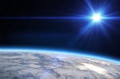 Planetenerde und -sonne stock abbildung