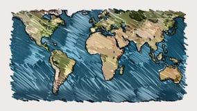 Planetenerdkartenmarkierung auf nahtloser Animation Endlos-Schleife des Hintergrundes des weißen Brettes - einzigartige handgemac stock footage