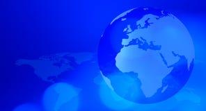 Planetenerdreise-Blauhintergrund vektor abbildung