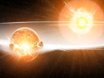 Planetenexplosionsapocalypse Lizenzfreies Stockbild