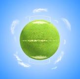 Planetenfußball Stockbild