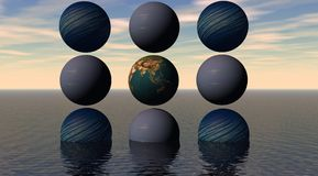 Planetenkugeln vektor abbildung