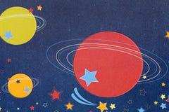 Planetenmusterpapier Stockfoto