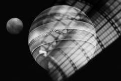 Planetenschatten Schwarzweiss-Bild des Planeten Lizenzfreie Stockbilder