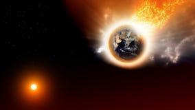Planetenunfall lizenzfreie abbildung