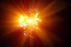 Planetenunfall stock abbildung