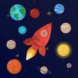 planetenzonnestelsel stock illustratie