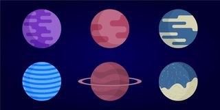 Planeter i utrymme royaltyfri illustrationer