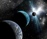 Planeter i utrymme Arkivfoto