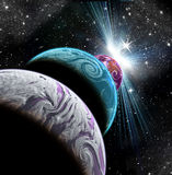 Planeter i utrymme Arkivbild