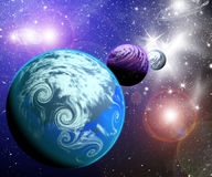 Planeter i utrymme Arkivbilder