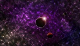 Planeter i yttre rymden vektor illustrationer