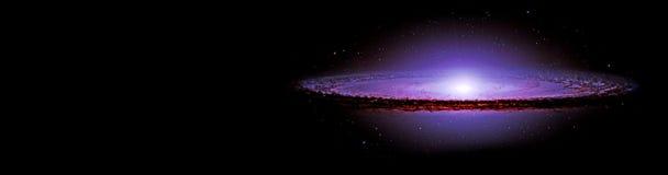 Planeter och galax, sciencetapet arkivbild