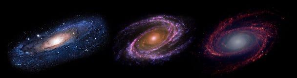 Planeter och galax, sciencetapet arkivfoton