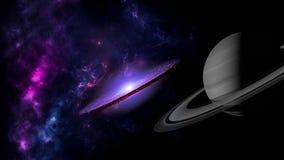 Planeter och galax, sciencetapet Sk?nhet av djupt utrymme fotografering för bildbyråer
