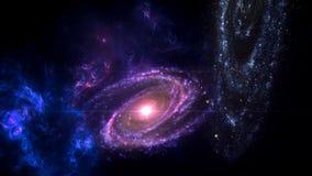 Planeter och galax, sciencetapet Sk?nhet av djupt utrymme arkivbild