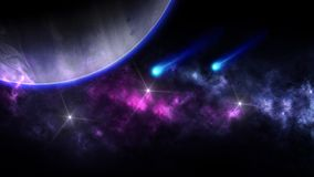 Planeter och galax, sciencetapet Sk?nhet av djupt utrymme Miljarder av galaxen i den kosmiska konstbakgrunden f?r universum, Ver fotografering för bildbyråer