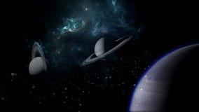 Planeter och galax, sciencetapet Sk?nhet av djupt utrymme Miljarder av galaxen i den kosmiska konstbakgrunden f?r universum, Ver royaltyfri foto