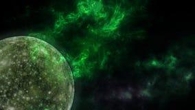 Planeter och galax, sciencetapet Sk?nhet av djupt utrymme Miljarder av galaxen i den kosmiska konstbakgrunden f?r universum, Ver arkivfoto