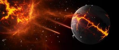 Planeter och galaxer, sciencetapet Skönhet av djupt utrymme vektor illustrationer