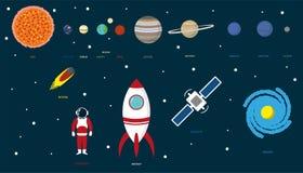 Planeter och universum Royaltyfri Fotografi