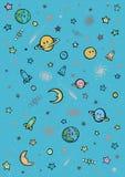Planeter och universumtapet vektor illustrationer