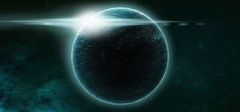 Planeter på en stjärnklar bakgrund royaltyfri fotografi