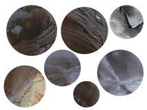 Planeter på en vit bakgrund, en grupp av objekt royaltyfria bilder