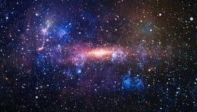 Planeter, stjärnor och galaxer i yttre rymd som visar skönheten av utforskning av rymden Beståndsdelar som möbleras av NASA vektor illustrationer